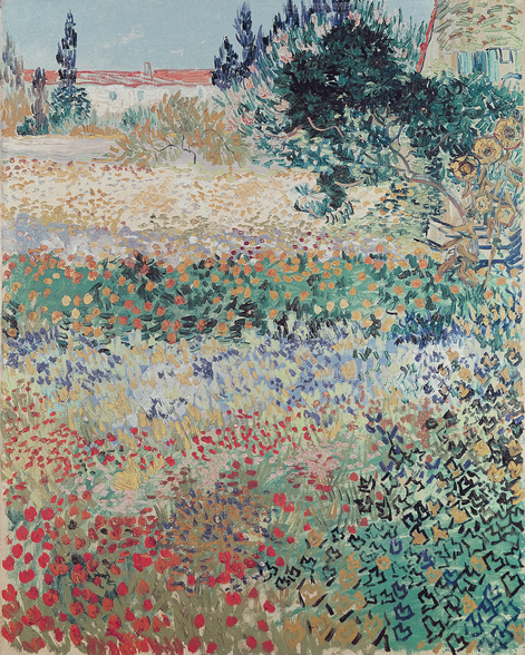 Garden in Bloom, Arles, July 1888 (oil on canvas) wall mural