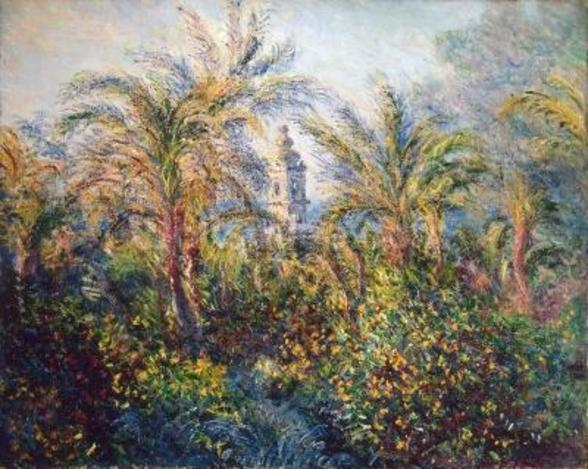 Garden in Bordighera, Impression of Morning, 1884 (oil on canvas) wallpaper mural
