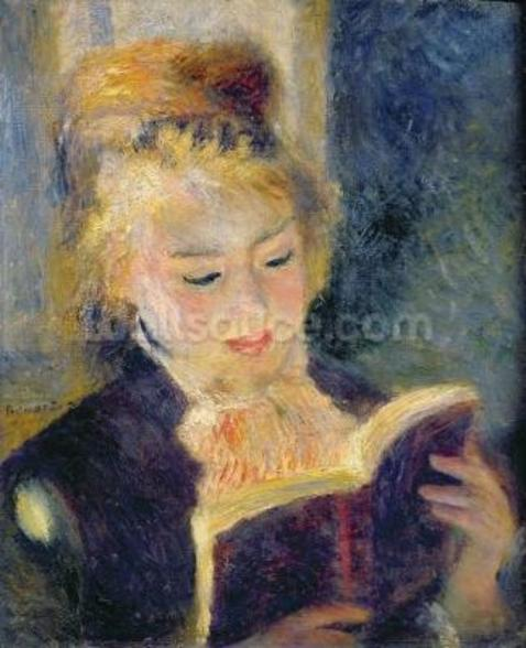 Girl Reading, 1874 (oil on canvas) wall mural