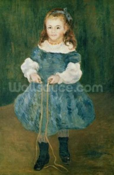 Girl with a skipping rope, 1876 (oil on canvas) wall mural
