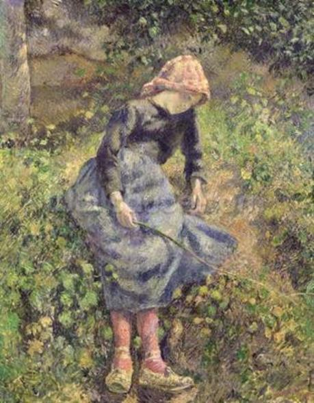 Girl with a Stick, 1881 (oil on canvas) wall mural