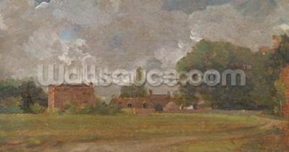 Golding Constables House, East Bergholt: The Artists birthplace (Landscape with Village and Trees) (oil on canvas) mural wallpaper