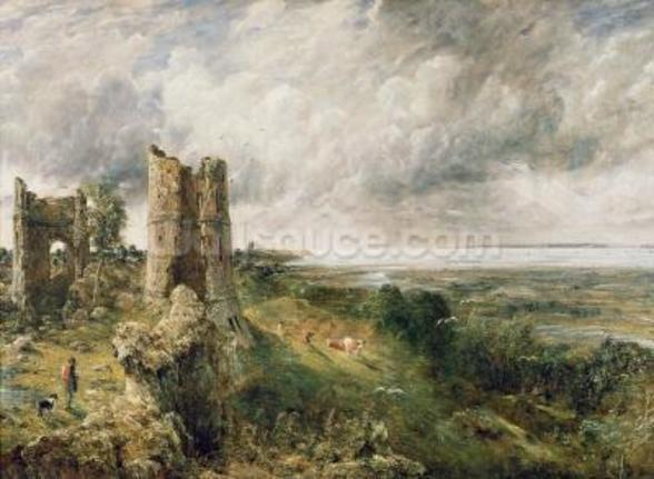 Hadleigh Castle, 1829 (oil on canvas) wallpaper mural