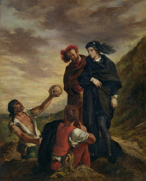 Hamlet and Horatio in the Cemetery, from Scene 1, Act V of Hamlet by William Shakespeare (1564-1616) 1839 (oil on canvas) wall mural