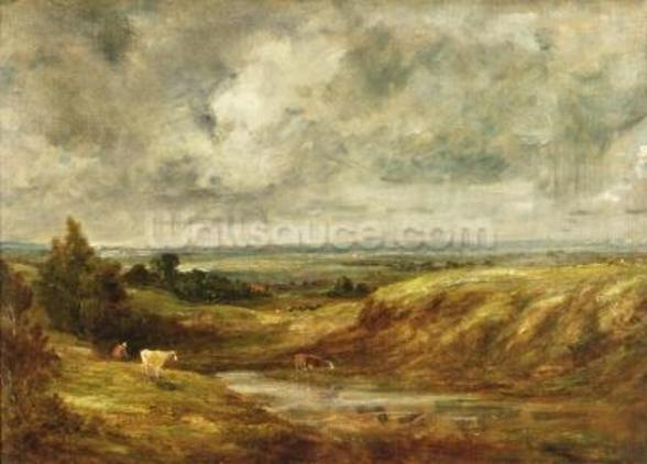 Hampstead Heath, c.1825-30 (oil on canvas) wallpaper mural