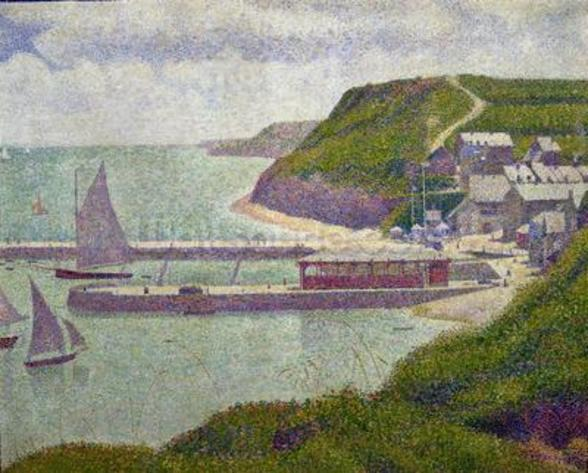 Harbour at Port-en-Bessin at High Tide, 1888 (oil on canvas) wall mural