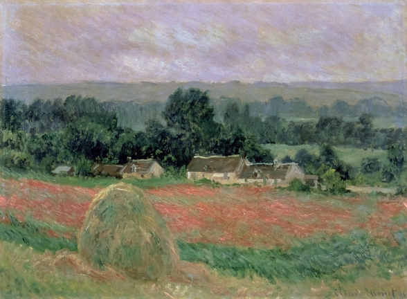 Haystack at Giverny, 1886 (oil on canvas) wall mural