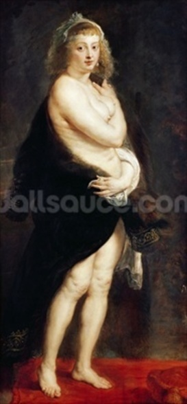 Helena Fourment in a Fur Wrap, 1636-38 wall mural