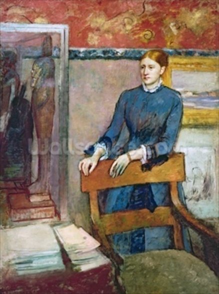 Helene Rouart in her Fathers Study, c.1886 (oil on canvas) wall mural