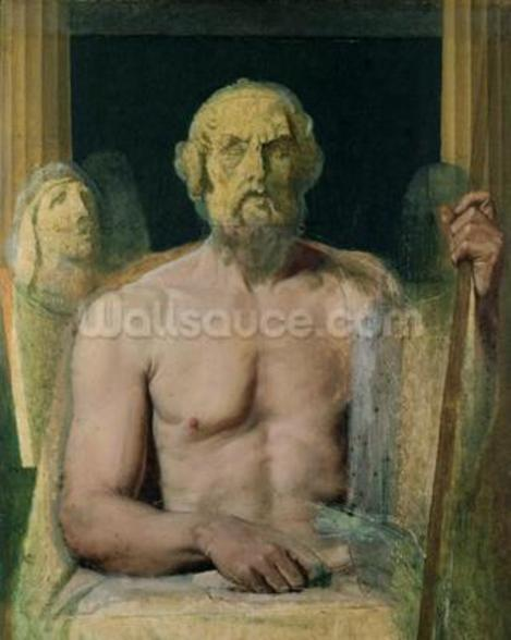 Homer, study for The Apotheosis of Homer, 1826-27 (oil on canvas) mural wallpaper