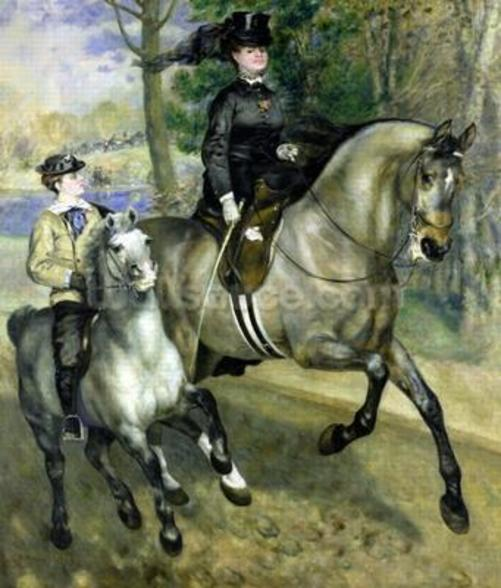Horsewoman in the Bois de Boulogne, 1873 (oil on canvas) wallpaper mural