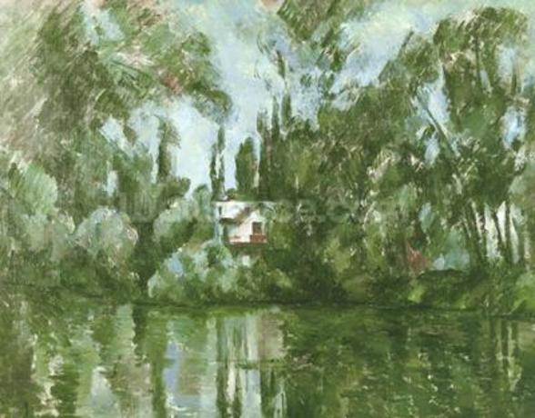 House on the Banks of the Marne, 1889-90 (oil on canvas) wallpaper mural