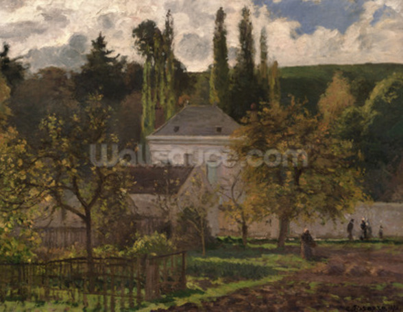 House in the Hermitage, Pontoise, 1873 (oil on canvas) wall mural
