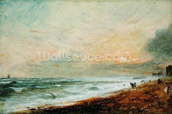 Hove Beach, c.1824 (oil on paper on panel) wall mural