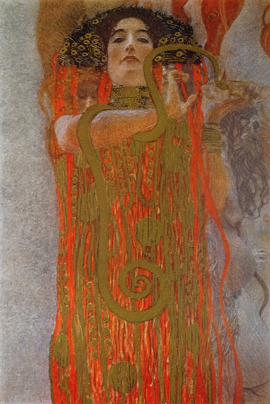 Hygieia, 1900-7 (detail from Medicine) wall mural