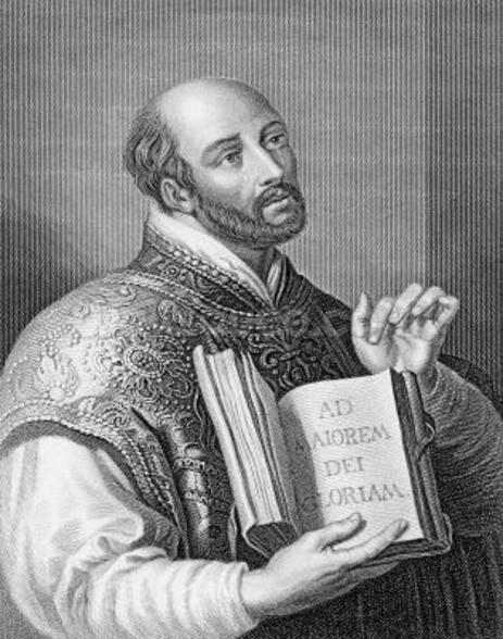 Ignatius Loyola, engraved by William Holl the younger, c.1830 (engraving) wall mural