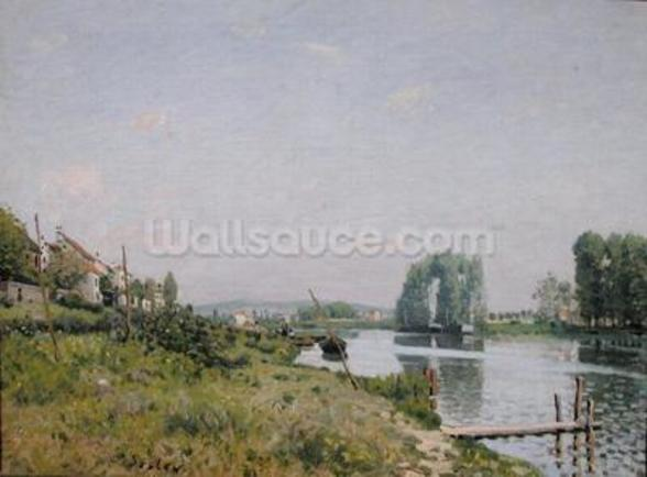 Ile Saint-Denis, 1872 (oil on canvas) wall mural