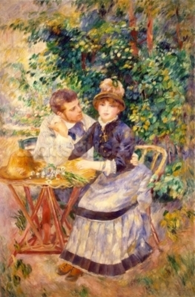 In the Garden, 1885 (oil on canvas) wall mural