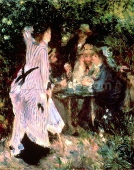 In the Garden, or Under the Trees of the Moulin de la Galette, 1875 (oil on canvas) wall mural