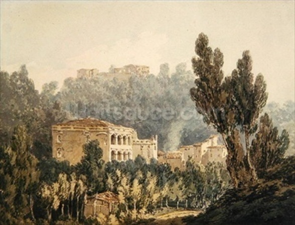 In the Valley near Vietri, c.1794 (w/c over graphite on paper) mural wallpaper