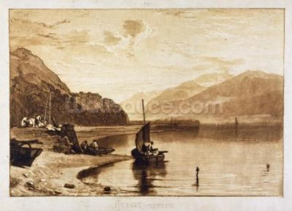 Inverary Pier, 1859-61 (engraving) wallpaper mural