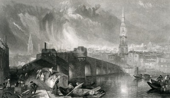 Inverness, engraved by W. Miller, 1836 (engraving) wallpaper mural