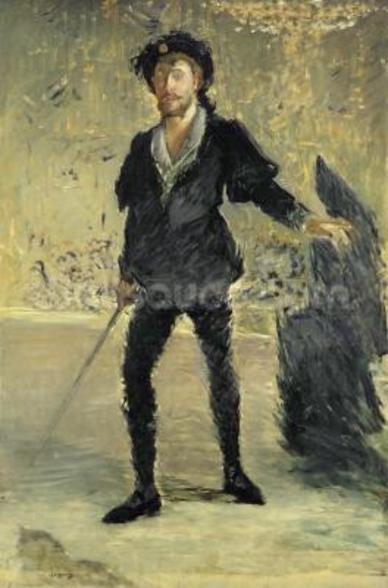 Jean Baptiste Faure (1840-1914) in the Opera Hamlet by Ambroise Thomas (1811-86) (Study), 1877 (oil on canvas) wall mural