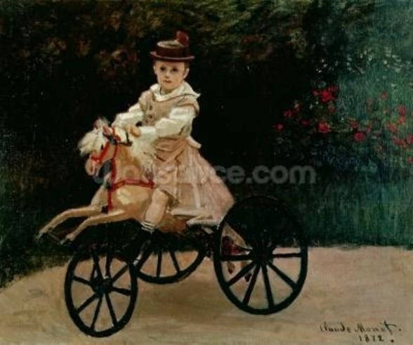 Jean Monet on his Hobby Horse, 1872 (oil on canvas) wall mural