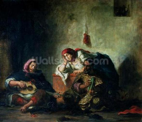 Jewish Musicians in Mogador, 1847 (oil on canvas) mural wallpaper