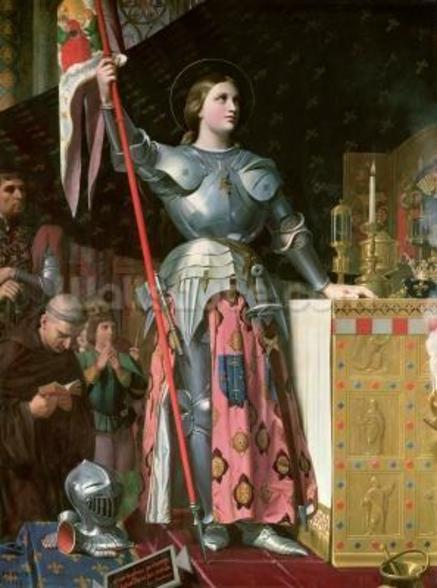 Joan of Arc (1412-31) at the Coronation of King Charles VII (1403-61) 17th July 1429, 1854 (oil on canvas) wall mural