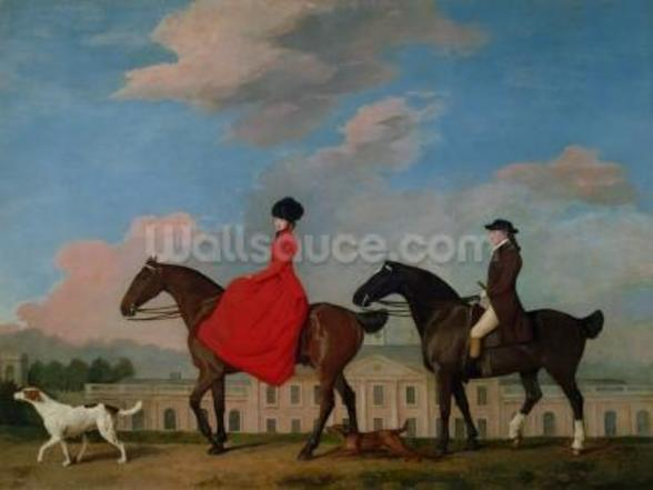 John and Sophia Musters riding at Colwick Hall, 1777 mural wallpaper