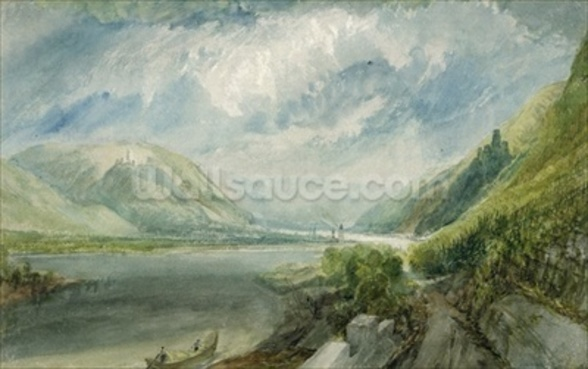 Junction of the Lahn, 1817 (gouache and w/c) wall mural