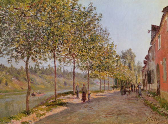 June Morning in Saint-Mammes, 1884 (oil on canvas) mural wallpaper