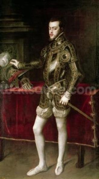 King Philip II (1527-98) 1550 (oil on canvas) wall mural