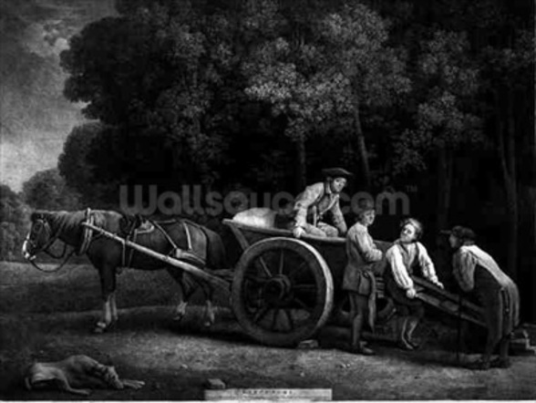Labourers, engraved by the artist, pub. 1789 (etching) wallpaper mural