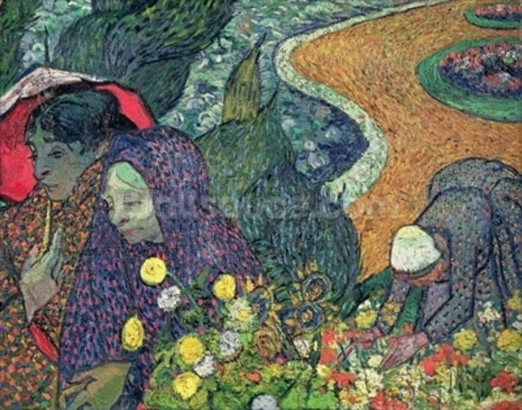Ladies of Arles (Memories of the Garden at Etten), 1888 (oil on canvas) wall mural