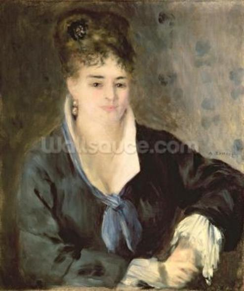 Lady in Black, c.1876 wall mural
