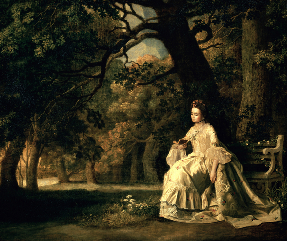 Lady reading in a Park, c.1768-70 wall mural