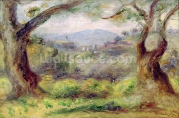 Landscape at Les Collettes, 1910 (oil on canvas) mural wallpaper