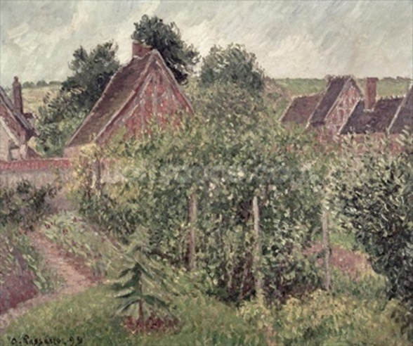 Landscape with Cottage Roofs, 1899 mural wallpaper