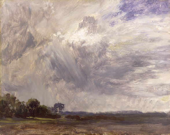 Landscape with Grey Windy Sky, c.1821-30 (oil on paper laid down on millboard) wall mural