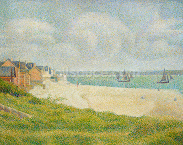 Le Crotoy looking Upstream, 1889 wall mural