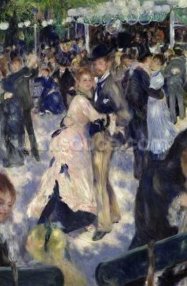 Le Moulin de la Galette, detail of the dancers, 1876 (oil on canvas) wallpaper mural