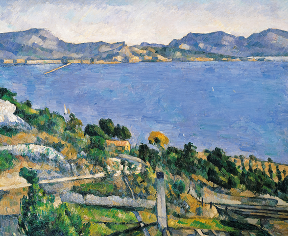 LEstaque, View of the Bay of Marseilles, c.1878-79 (oil on canvas) wall mural