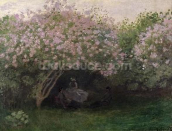 Lilacs, Grey Weather, 1872 (oil on canvas) wallpaper mural