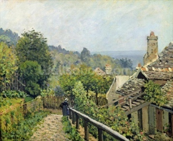 Louveciennes or, The Heights at Marly, 1873 (oil on canvas) wall mural