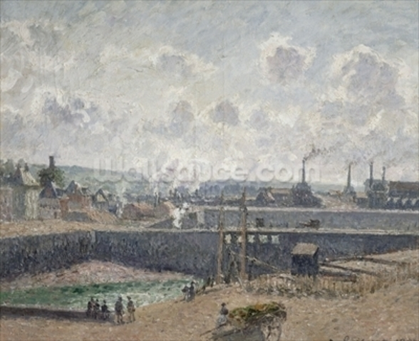 Low Tide at Duquesne Docks, Dieppe, 1902 (oil on canvas) wall mural