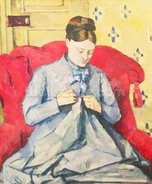 Madame Cezanne sewing wall mural