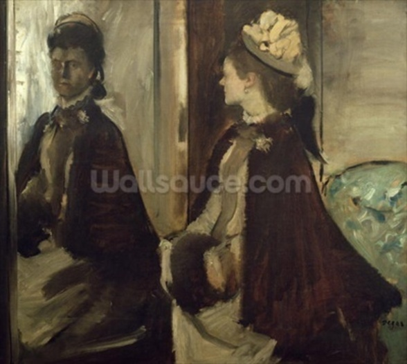 Madame Jeantaud in the mirror, c.1875 (oil on canvas) wall mural