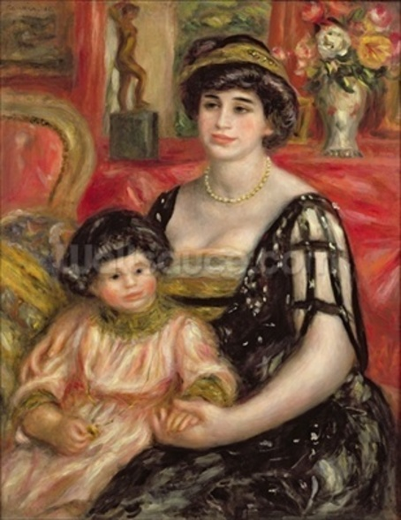 Madame Josse Bernheim-Jeune and her Son Henry, 1910 (oil on canvas) wallpaper mural